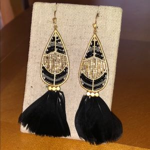Stella & Dot Wisten feather earrings